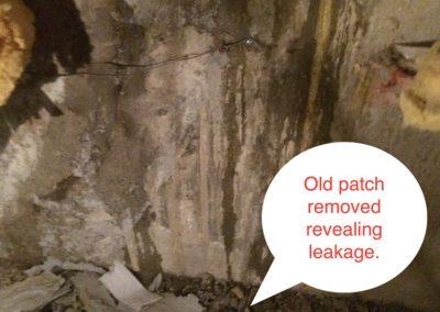 PHOTO 3. REMOVED ORIGINAL REPAIR MATERIALSnew